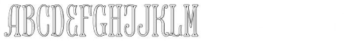 MFC Keating Monogram 25000 Impressions Font LOWERCASE