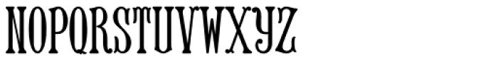 MFC Keating Monogram Solid 1000 Impressions Font LOWERCASE