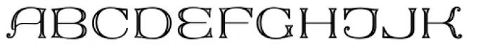 MFC Keating Monogram Stencil 1000 Impressions Font UPPERCASE