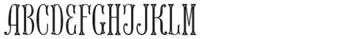 MFC Keating Monogram Stencil 250 Impressions Font LOWERCASE