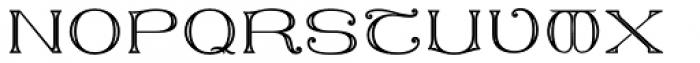 MFC Keating Monogram Stencil 25000 Impressions Font UPPERCASE