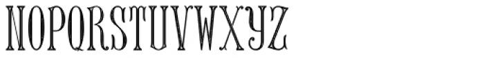 MFC Keating Monogram Stencil 25000 Impressions Font LOWERCASE