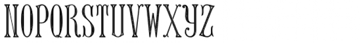 MFC Keating Monogram Two 1000 Impressions Font LOWERCASE