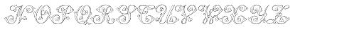MFC Klaver Monogram 1000 Impressions Font LOWERCASE