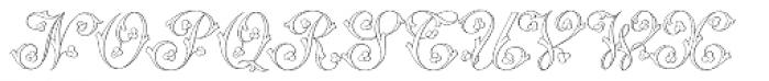 MFC Klaver Monogram 250 Impressions Font UPPERCASE