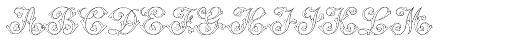 MFC Klaver Monogram 250 Impressions Font LOWERCASE