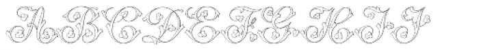 MFC Klaver Monogram 25000 Impressions Font UPPERCASE
