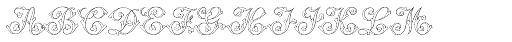 MFC Klaver Monogram 25000 Impressions Font LOWERCASE