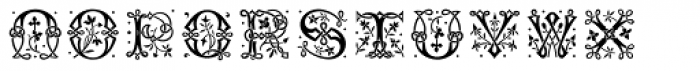 MFC Laroux Initials Solid Font UPPERCASE