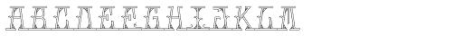 MFC Mastaba Monogram 10000 Impressions Font UPPERCASE