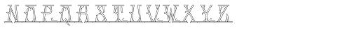 MFC Mastaba Monogram Basic 10000 Impressions Font UPPERCASE