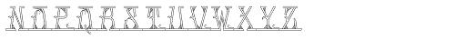 MFC Mastaba Monogram Shaded 10000 Impressions Font UPPERCASE