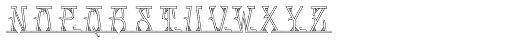 MFC Mastaba Monogram Shaded 10000 Impressions Font LOWERCASE