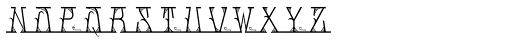 MFC Mastaba Solid Monogram 10000 Impressions Font UPPERCASE