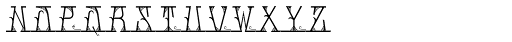 MFC Mastaba Solid Monogram 10000 Impressions Font LOWERCASE