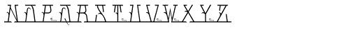 MFC Mastaba Solid Monogram Basic 250 Impressions Font UPPERCASE