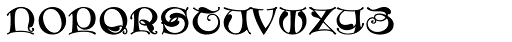 MFC Medieval Monogram 1000 Impressions Font LOWERCASE
