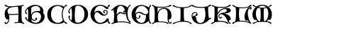 MFC Medieval Monogram 250 Impressions Font LOWERCASE