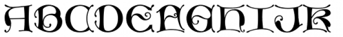 MFC Medieval Monogram Basic 1000 Impressions Font UPPERCASE
