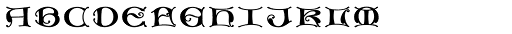 MFC Medieval Monogram Stack 1000 Impressions Font LOWERCASE