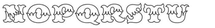 MFC Redding Monogram Clear Font UPPERCASE