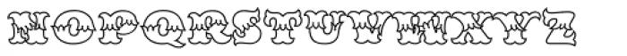 MFC Redding Monogram Clear Font LOWERCASE