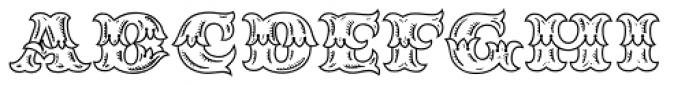 MFC Redding Monogram Font UPPERCASE