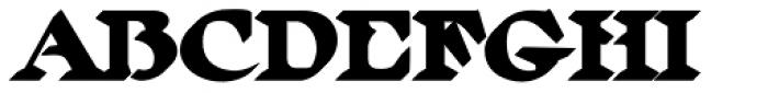 MFC Ringold Monogram Extruded Font UPPERCASE