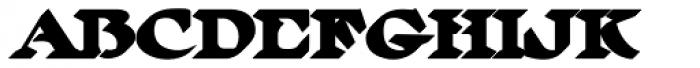 MFC Ringold Monogram Extruded Font LOWERCASE