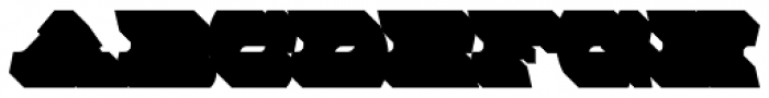 MFC Rodizio Extruded Font UPPERCASE