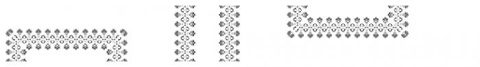 MFC Stencil Borders Three B Font UPPERCASE