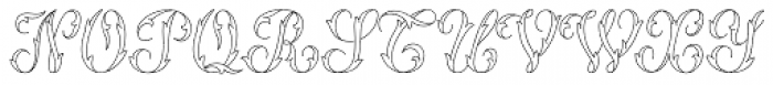 MFC Thornwright Monogram 250 Impressions Font UPPERCASE