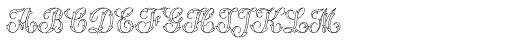 MFC Thornwright Monogram 25000 Impressions Font LOWERCASE