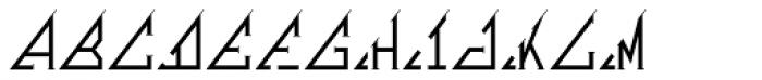 MFC Triangulus Monogram 1000 Impressions Font UPPERCASE