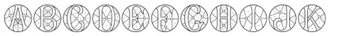 MFC Verre Monogram 10000 Impressions Font UPPERCASE