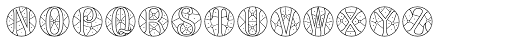 MFC Verre Monogram 10000 Impressions Font LOWERCASE