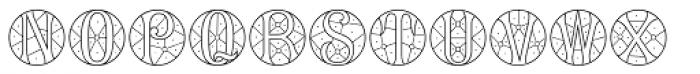 MFC Verre Monogram 25000 Impressions Font UPPERCASE
