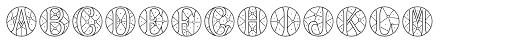 MFC Verre Monogram 25000 Impressions Font LOWERCASE