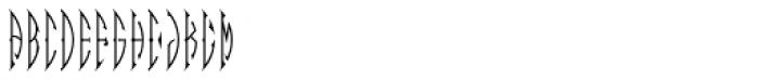 MFC Zulu Monogram 10000 Impressions Font LOWERCASE