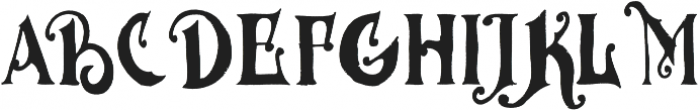 MGH VINOLIAN otf (400) Font UPPERCASE
