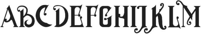 MGH VINOLIAN otf (700) Font UPPERCASE