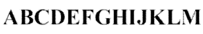 MGFT Times New Halftone Font UPPERCASE