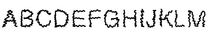 MGsillystring Font UPPERCASE