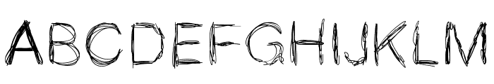 MGspaghettistrings Font UPPERCASE