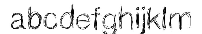 MGspaghettistrings Font LOWERCASE