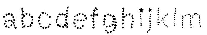 MGtalkingstars Font LOWERCASE