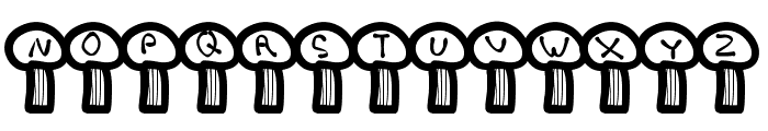 MGterrifictrees Font UPPERCASE