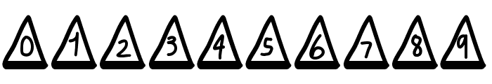 MGtrafficcones Font OTHER CHARS