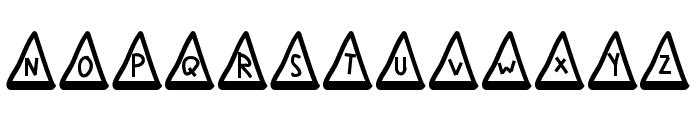 MGtrafficcones Font UPPERCASE