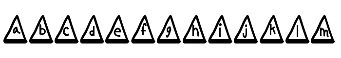 MGtrafficcones Font LOWERCASE